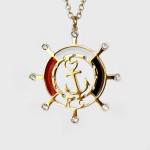 KC Helm Wheel Necklace Gold | A113G